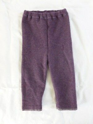 wool longies longie *NEW* diaper cover leggings pants purple L