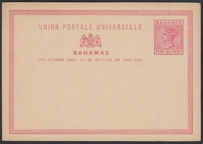 BAHAMAS, 1881. Post Card H&G 1, Mint