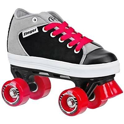 Roller Derby Zinger Quad Roller Skates - Black/Grey Was £40