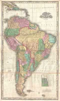 1825 Tanner Map of South America