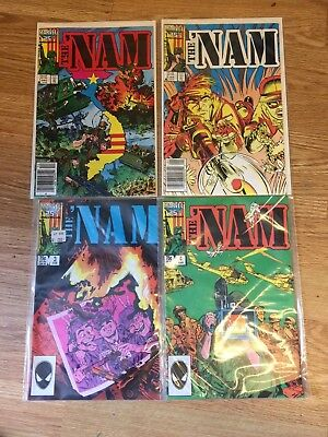 1986 The 'Nam Marvel Comic 25th Anniversary Lot of 4 #1,2,3,&4