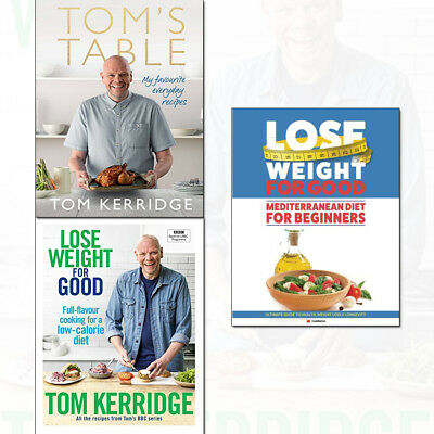 Mediterranean Diet For Beginners,Tom's Table,Lose Weight 3 Books Collection Set