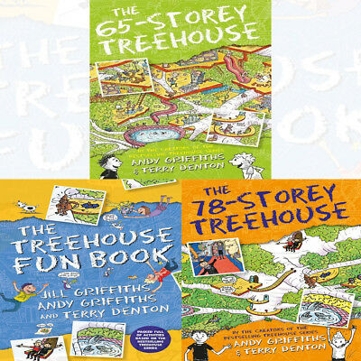 Andy Griffith's 3 Books Coleection Set Treehouse Fun Book 65-78 Storey Paperback