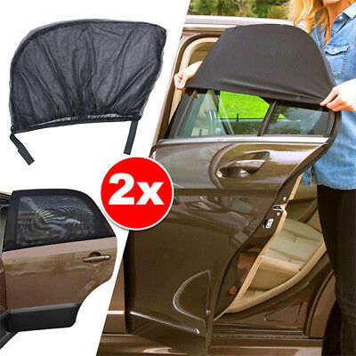 2x Car Rear Side Window Socks Sun Shade Mesh SUV UV Protection Large pair sox