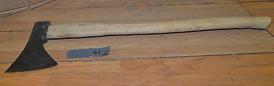 Antique Rival french felling axe quality 1700's collectible ax rare early tool