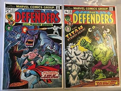 DEFENDERS #11 and #12 -  MARVEL COMICS (1st SERIES - 1973/1974 - VFN- )