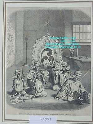 74991-Asien-Asia-Japan-Nippon-Nihon-Mikado Concert-T Holzstich-Wood engraving