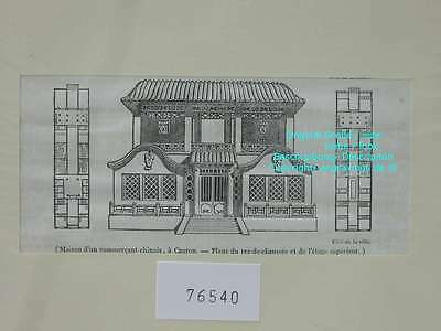 76540-Asien-Asia-China-Canton-Kanton-T Holzstich-Wood engraving