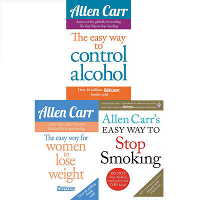 Allen Carr Collection 3 Books Set  Easy Way for Women to Lose Weight Paperback