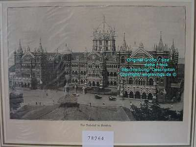 78264-Asien-Asia-Indien-India-Bombay-Mumbai-T Holzstich-Wood engraving