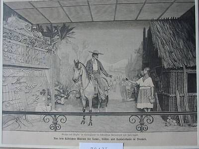 79435-Bremen-Museum-Mexiko Mexico-T Holzstich-Wood engraving