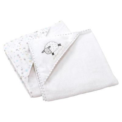 Silvercloud Counting Sheep Hooded Cuddle Robes - Pack of 2, 100% Cotton