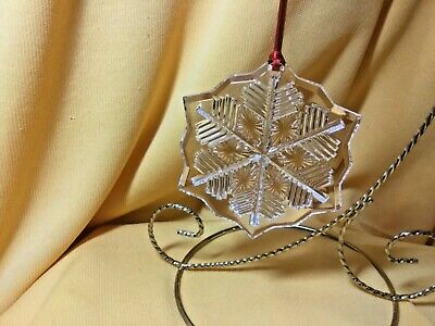 Waterford Crystal  2014 Marquis Snowflake Ornament with Hanging Ribbon - New