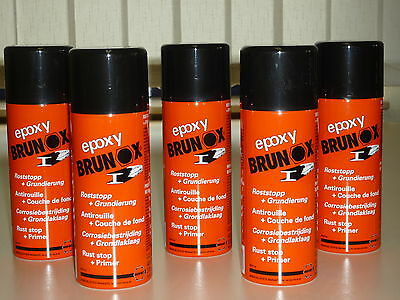 Brunox Epoxy 5 x 400 ML Spray Rostumwandler Rostsanierer Grundierer