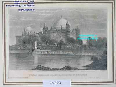 25524-Asien-Asia-Indien-India-Sultan Mohamed BEJAPORE-Stahlstich-Steel engraving