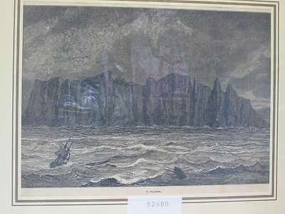 82680-Norwegen-Norway-Norge-Nordkap-Northcape-T Holzstich-Wood engraving