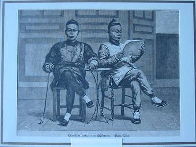 87529-Asien-Asia-China-Bankiers in Californien-T Holzstich-Wood engraving