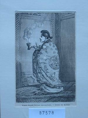 87578-Asien-Asia-China-Bonze chinois-parfums-T Holzstich-Wood engraving