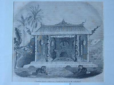 87576-Asien-Asia-China-Temple Macassar-T Holzstich-Wood engraving