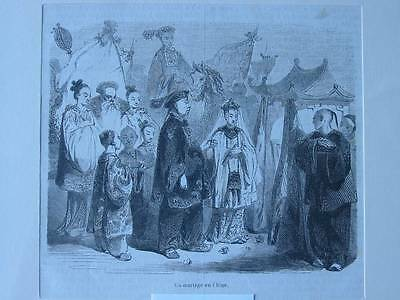 87520-Asien-Asia-China-Hochzeit-Marriage-T Holzstich-Wood engraving