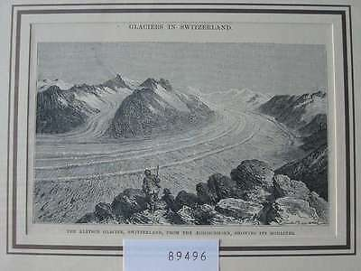 89496-Schweiz-Swiss-Switzerland-Aletsch Glacier-Gletscher-TH-Wood engraving