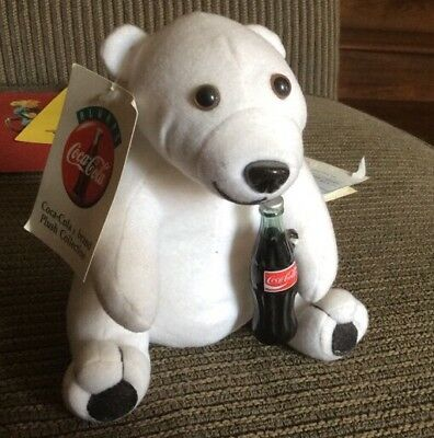 Vintage Coca Cola Polar Bear Plush Toy...7 inches