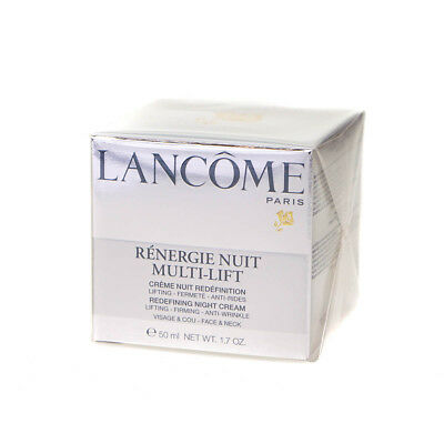 Lancome Renergie 50ml Night Cream Multi-Lift Lifting Anti-Wrinkle For Face Neck