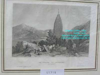 51718-Asien-Asia-Indien-India-Tempel Mahadeo-Stahlstich-Steel engraving-1860