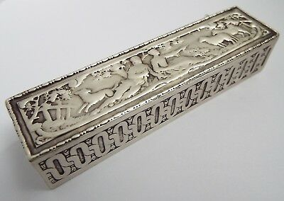 Beautiful Decorative English Antique 1899 Solid Silver Table Box Berthold Muller