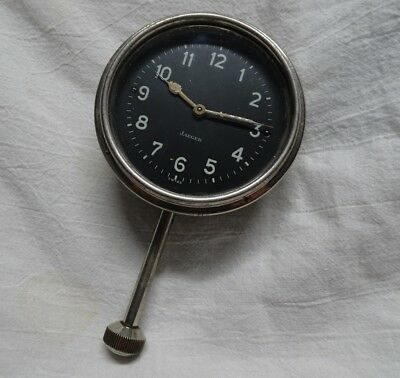 Vintage Jaeger Watch Company Car Clock Working Swiss Movement Antique Automobile