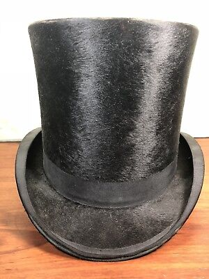 Antique Stovepipe Turn Of The Century Blumenthal Top Hat Wilkesbarre, PA.