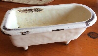 Antique Vintage Footed Salesman Sample Porcelain Cast Iron Bathtub