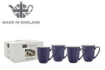 NEW Denby Essentials Dusk Blue & Mint 4 Piece Coffee Mug Set