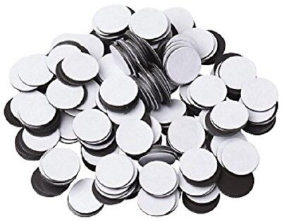"""1000pcs 1/2"""" (60 mil) Magnetic Adhesive Circles Magnets Peel & Stick Made in USA"""