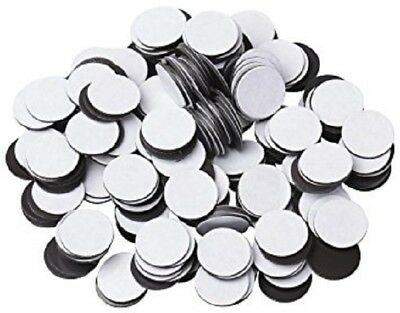 """500 pcs 1"""" (60 mil) Magnetic Adhesive Circles Magnets Peel & Stick Made in USA"""