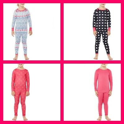 27405bb1d613 5T Toddler Girl Thermal Cuddl Duds Polycore Warm Underwear 2 PC set Free  Shippin