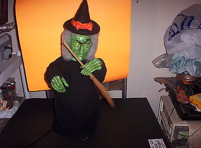 """Vintage Silvestri Animated Halloween Witch Motionette-Red Flashing Eyes-24""""-Rare"""