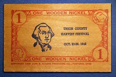 South Carolina wooden nickel flat - Union County Harvest Festival, Union, S.C.