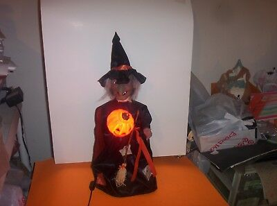 Rennoc Vintage Animated Electric Motionette Witch Halloween Decoration