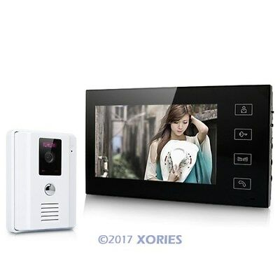 7 Inch Wired Video Door Phone Audio Visual Intercom System 1V1 For Villa House