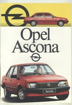 1984 ? Opel South Africa Ascona Brochure English Afrikaans  wy9517