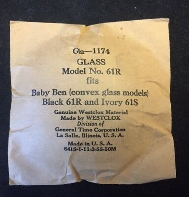 Spare  convex clear glass .Circular bezel for Baby Ben alarm clock 61R 61S   .