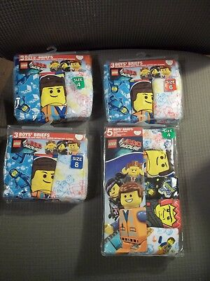 NIP The Lego Movie Boys Underwear/Briefs-4 OR 8-Pack of 3 OR Pack of 5