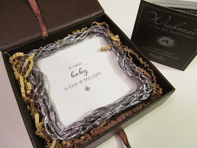 *Wishnest by Alise Sheehan Baby Love at First Sight Plaque Silver Frame in Box