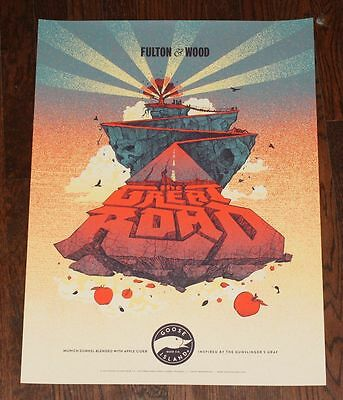 Goose Island Brewery Poster - Great Road with Stephen King Dark Tower Theme