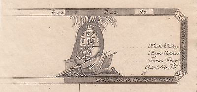 Italien 25 Lire Flags and Arms - 1792-1794 - Proof