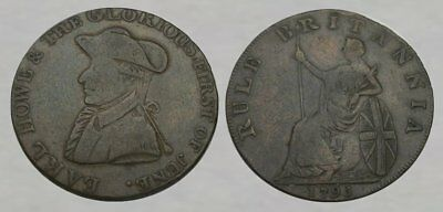 * FANTASTIC !! * - Colonial Copper Coin dated 1795 - NICE DETAILS