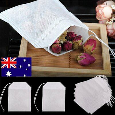 100/200x Empty Teabags String Heat Seal Filter Paper Herb Loose Tea Bags TeabaQ&