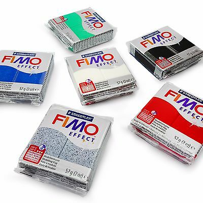 FIMO Effect Oven Modelling Clay - Starter Set - 6 x 57g - Multicolour Blocks