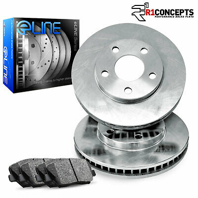1973-1974 Volkswagen Karmann Ghia Front eLine Plain Brake Rotors & Ceramic Pads